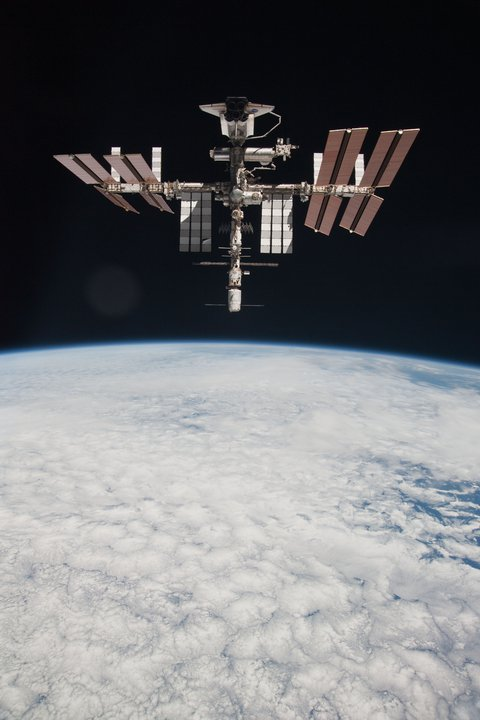 ISS and clouds